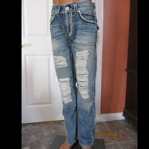 True Religion Straight w Flaps SUPER T Jeans Sz 31